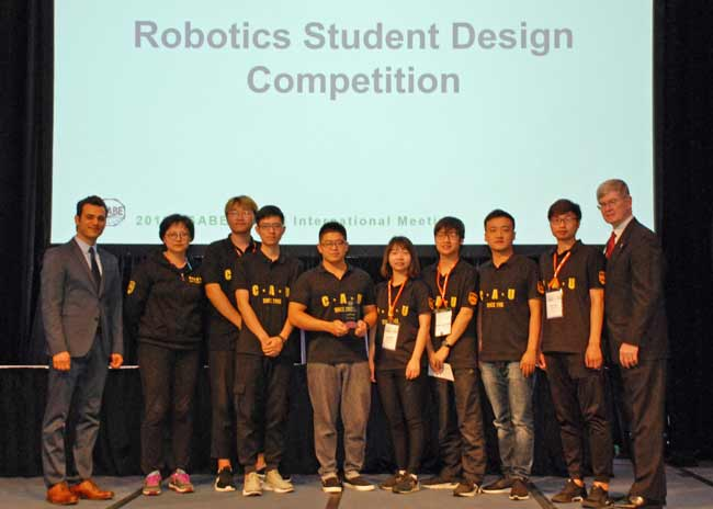 CAU Sweeps ASABE Robotics Competitions