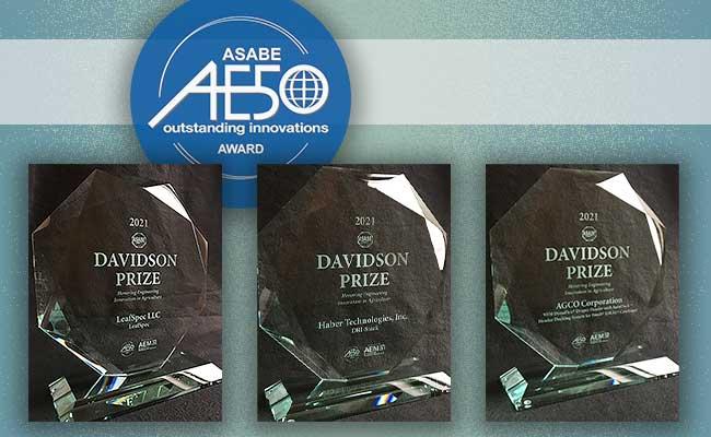 AGCO, Haber, Purdue Awarded 2021 Davidson Prizes