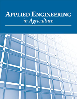 Front cover of Applied Engineering in Agriculture journal