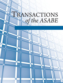 Front cover of Transactions of the ASABE journal
